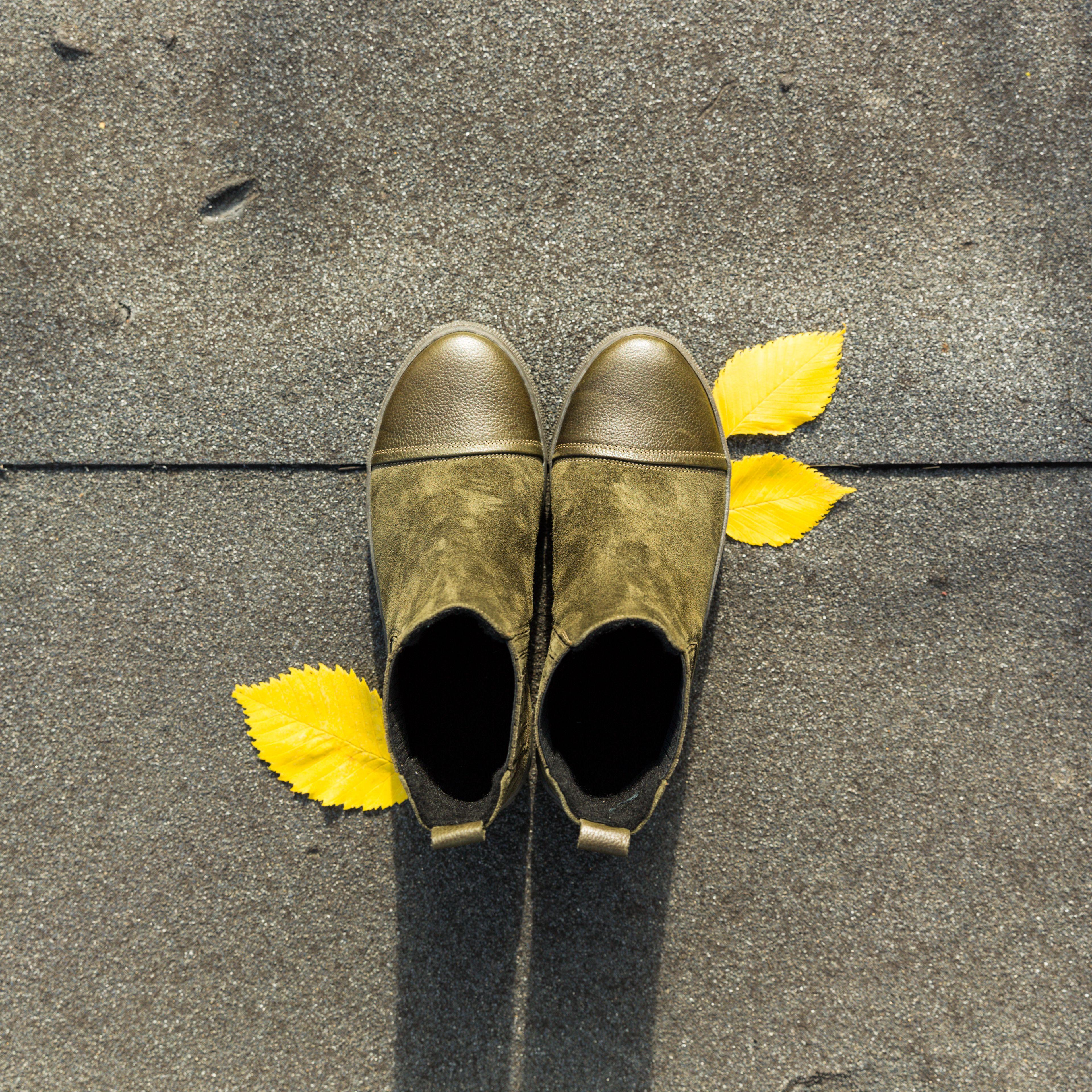 Ocieplane Botki W Kolorze Oliwkowym Khaki Shoes Mule Shoe Slippers
