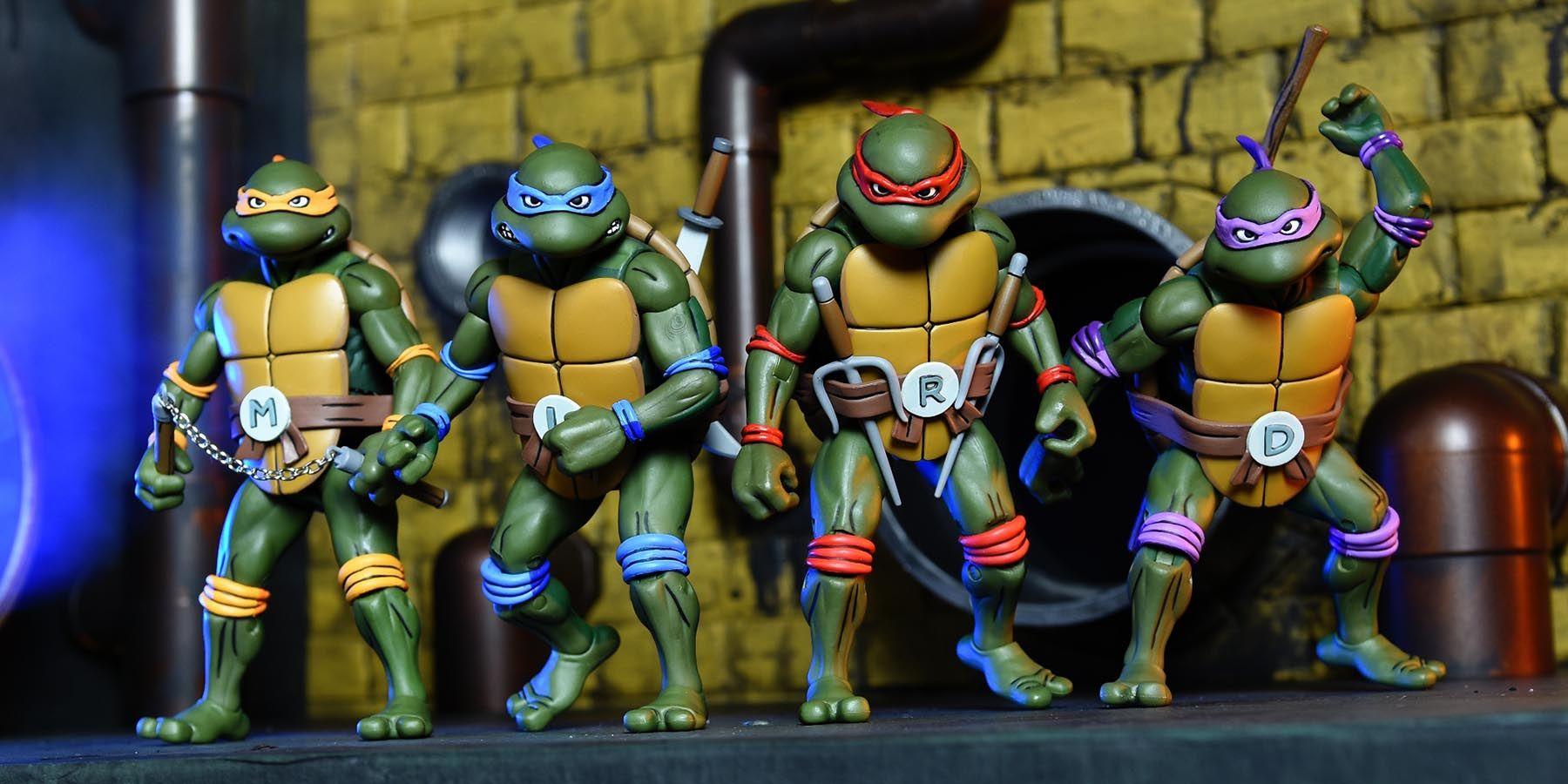 NECA 2018 SDCC TMNT Teenage Mutant Ninja Turtles The Figures Boxed Toy