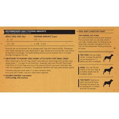 Purina Dog Chow Small Dog Grain Real Meat Dry Dog Food 4lbs