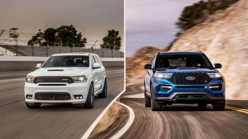 2020 Ford Explorer St Vs 2019 Dodge Durango Srt Specs Compared