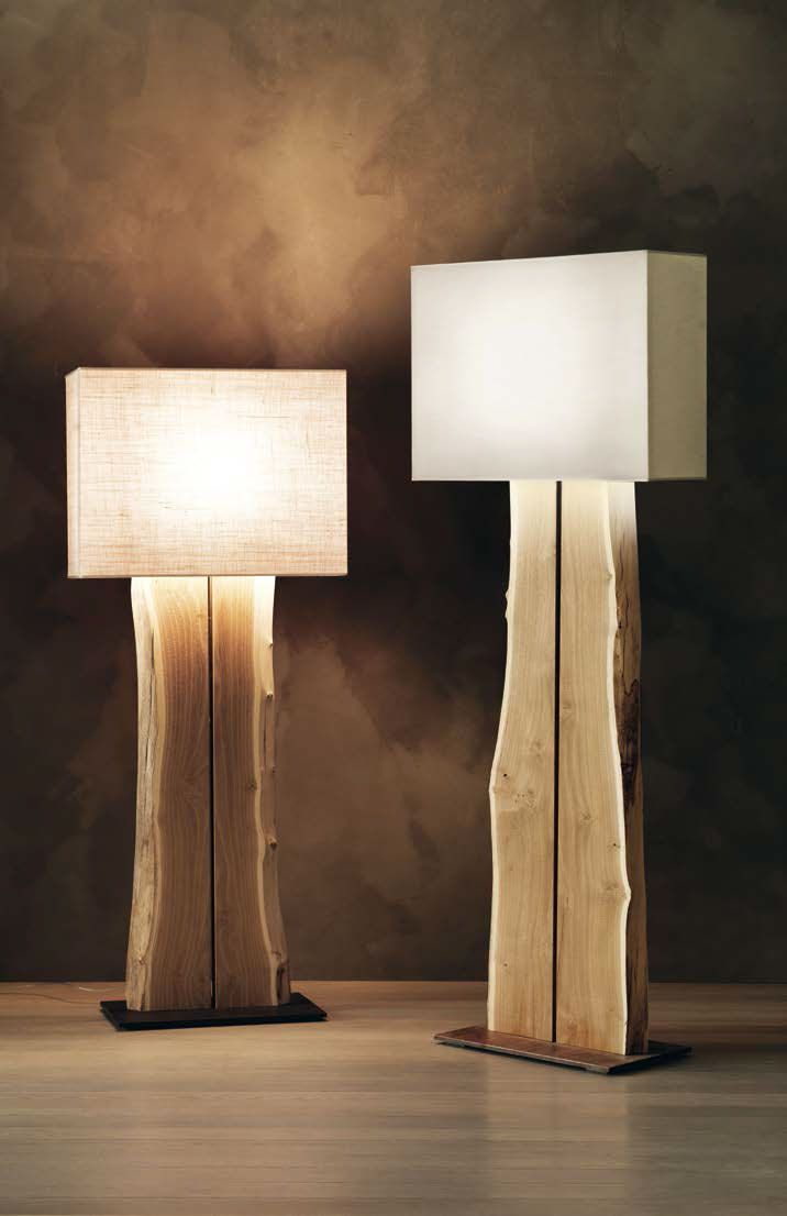 Arboj Lampada A Stelo In Legno Arboj Floor Lamp In