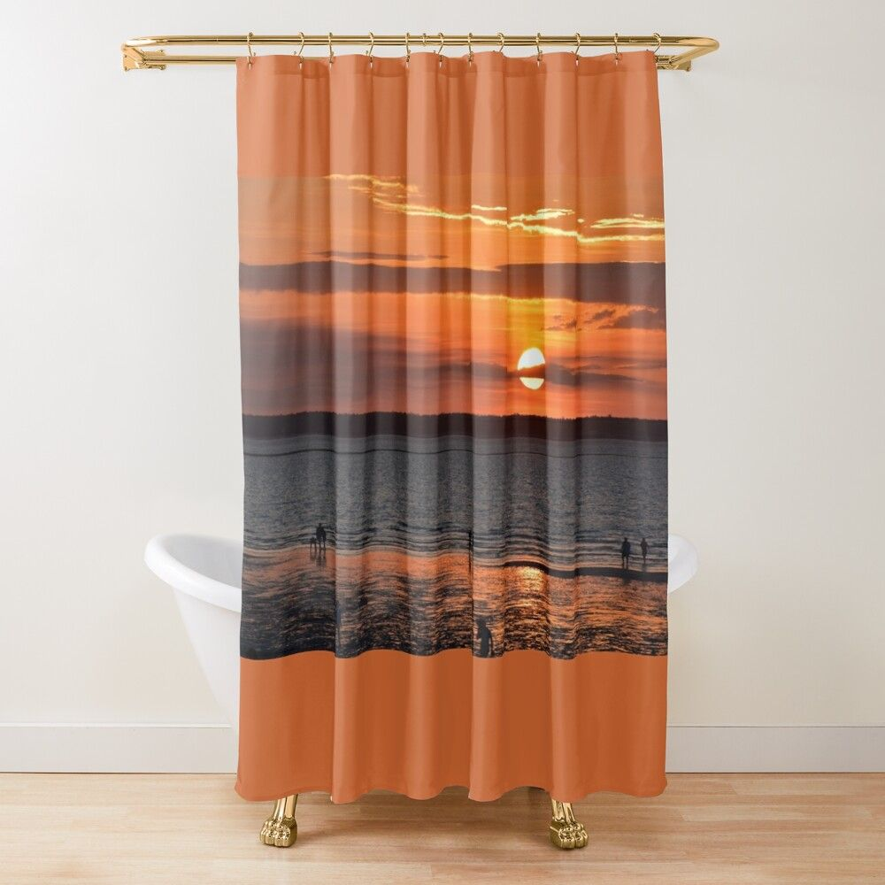 Sunset In The Top End Shower Curtain By Marksandhu In 2020 Curtains Shower Curtain Printed Shower Curtain