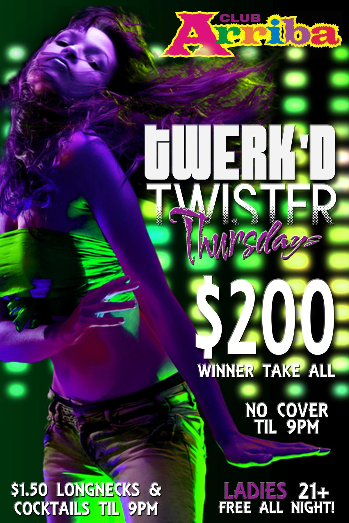 Zumba poster design - Twerk D Twister Contest Flyer Design For Club Arriba Nightclub In Midland