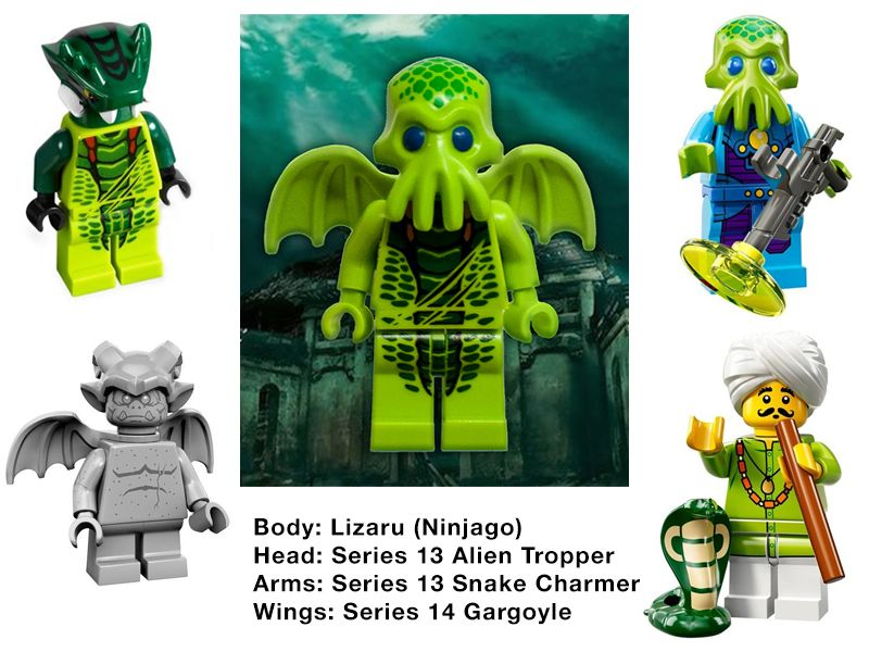 LEGO Cthulhu Parts by Steam-HeART | LEGO creations ...