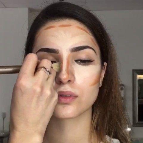 """Highlight & contour  by @makeupbylusine on model @kokoandchanel"""