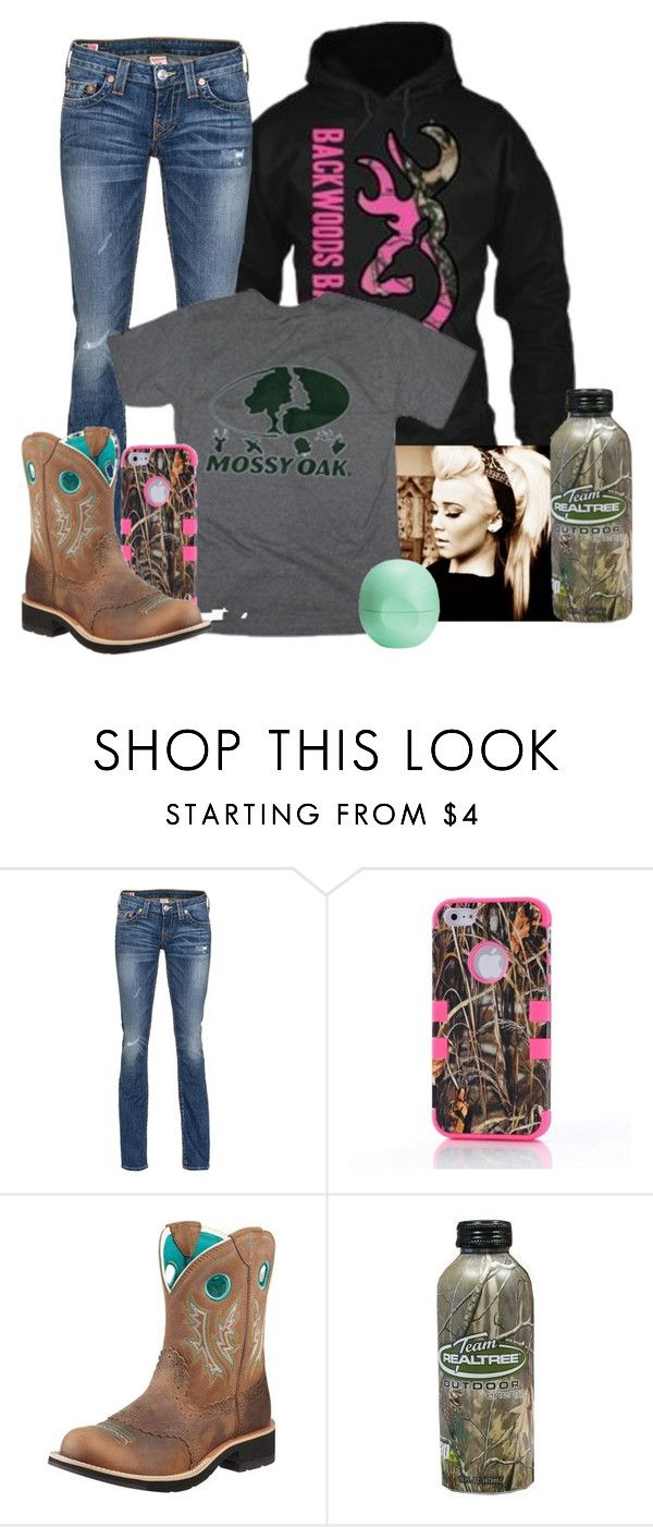 """""""Rednecks"""" by munchiie99 ❤ liked on Polyvore featuring True Religion, Ariat and Eos"""