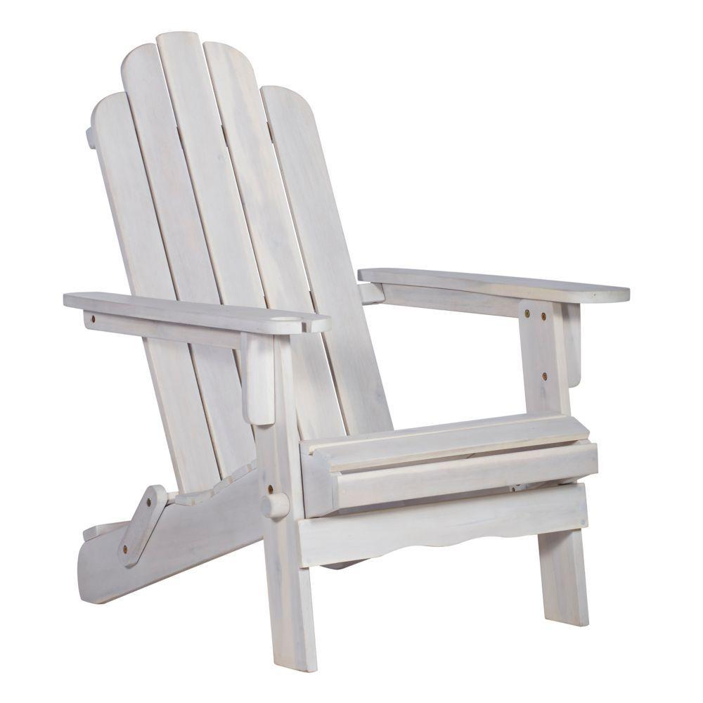 Patio Wood Adirondack Chair Whitea Wash In 2019 Products