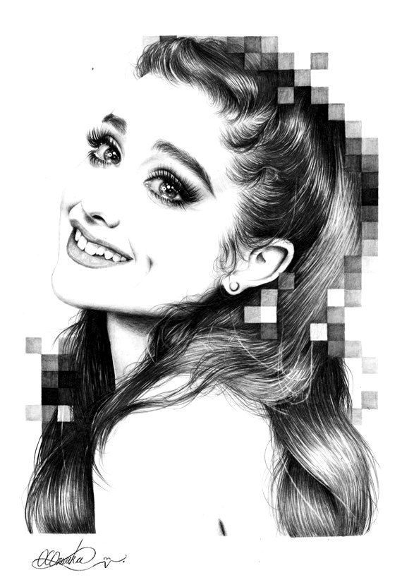 Art Print of Ariana Grande Pencil Drawing by Duchess94 on ...