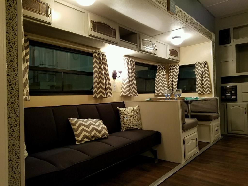 Tiny House Travel Trailer Remodel Living Interior Rv