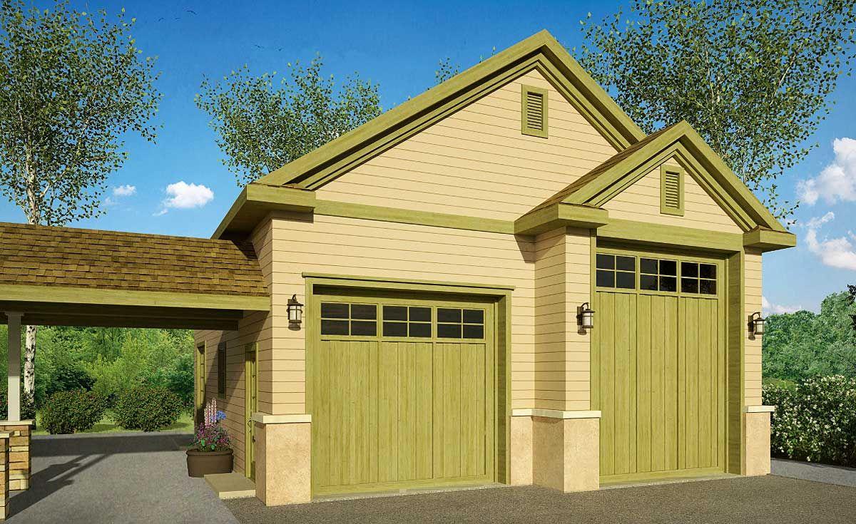 Plan 72818DA RV Garage with Options Garage design, Rv