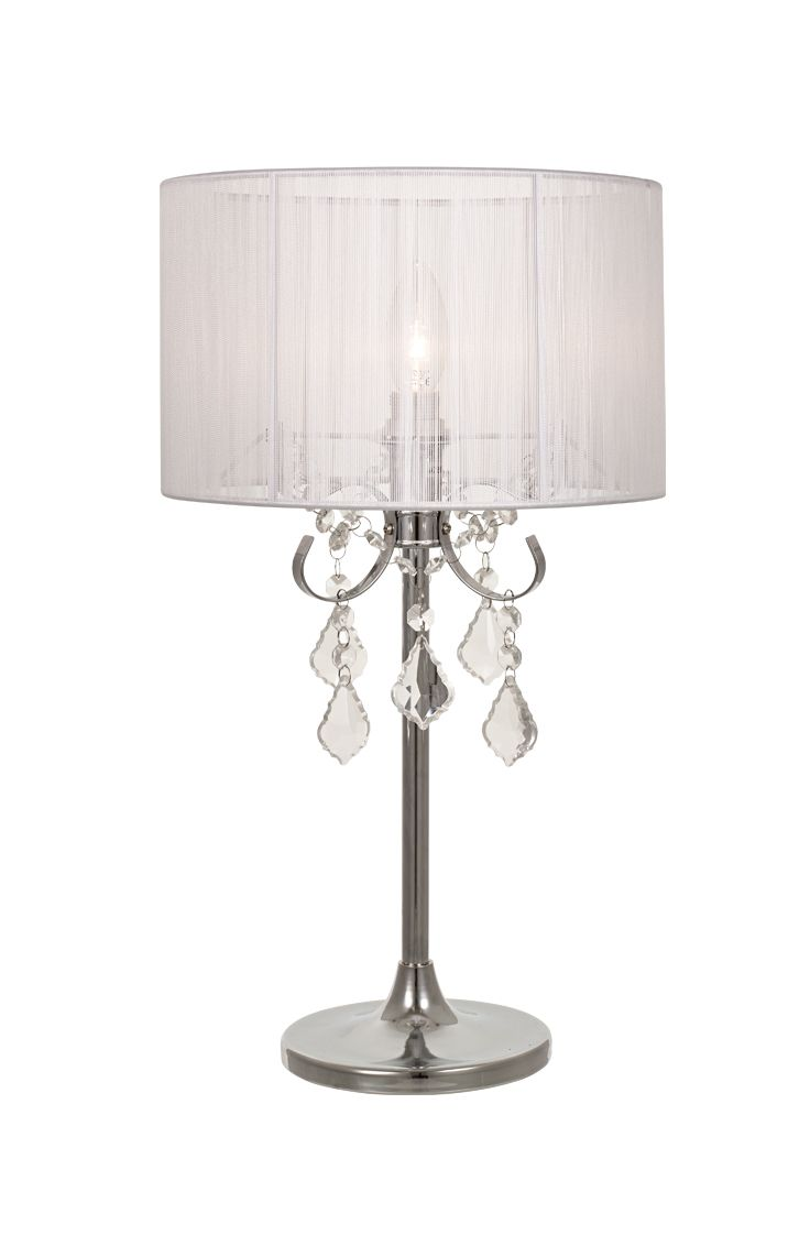Find Many Great New Used Options And Get The Best Deals For Paris 1 Light Chrome Table Lamp With White String Shade At Online Prices