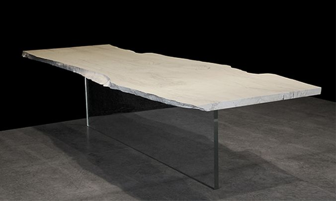 John Houshmand | BLEACHED AND TINTED SPALTED MAPLE WITH ONE ACRYLIC LEG