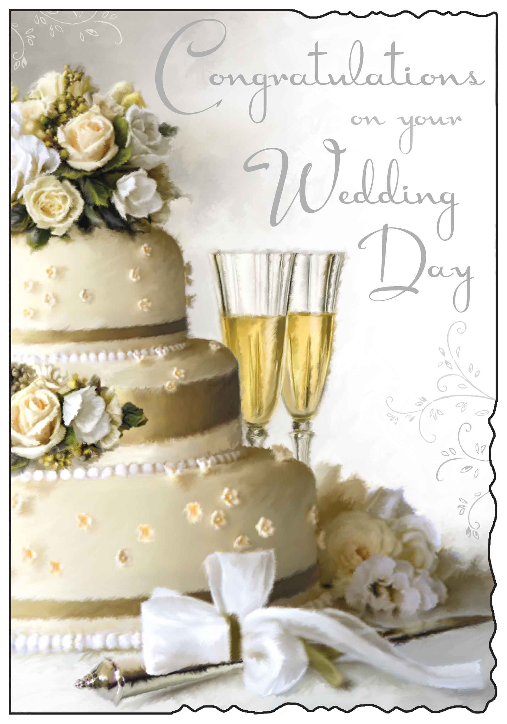 Congratulations on your wedding day card. http//www