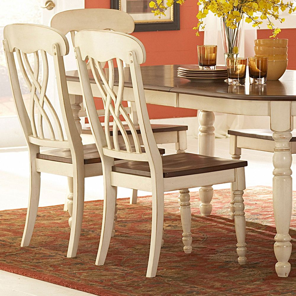 Country Style Kitchen Table And Chairs: Ethan Home Mackenzie 7 Piece Country Style Two Tone Cherry