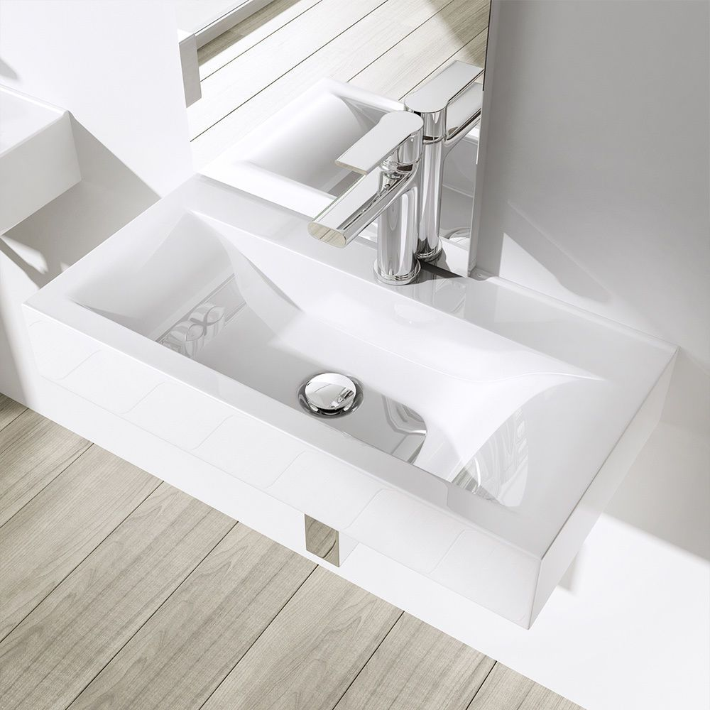 Aufsatz Waschtisch Waschschale Handwaschbecken Waschplatz 600x310