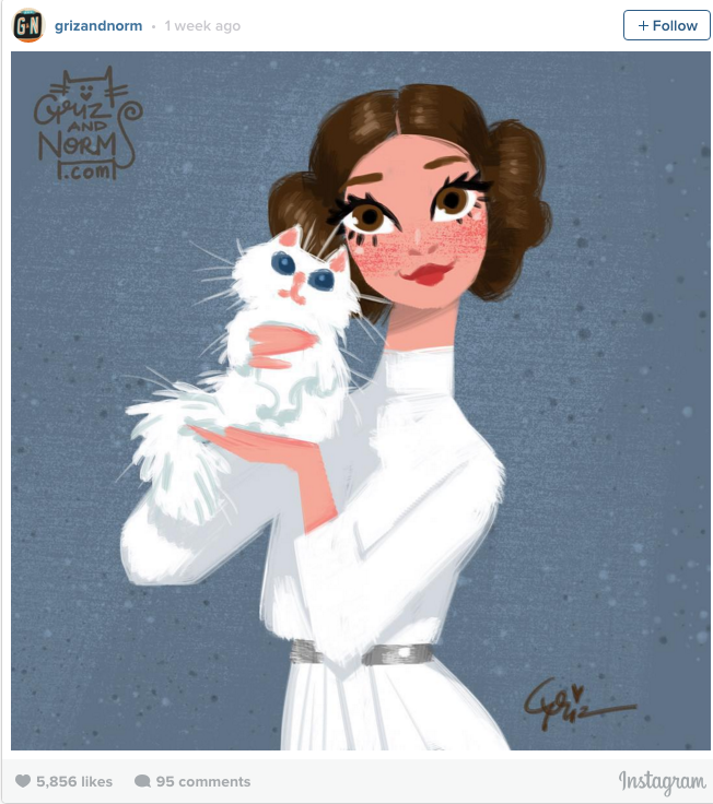 — STAR WARS CHARACTERS AND THEIR CATS In their free...