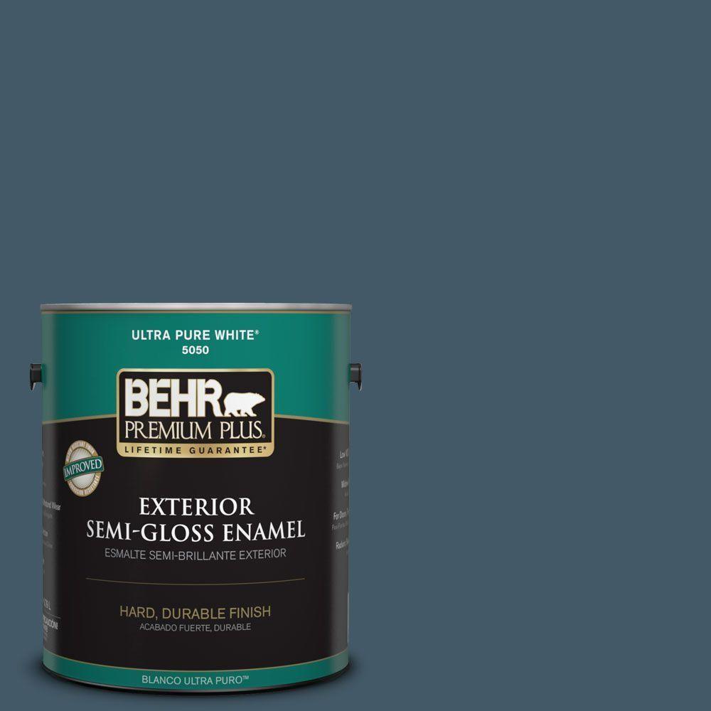 BEHR Premium Plus 1-gal. #S480-7 Midnight in the Tropics