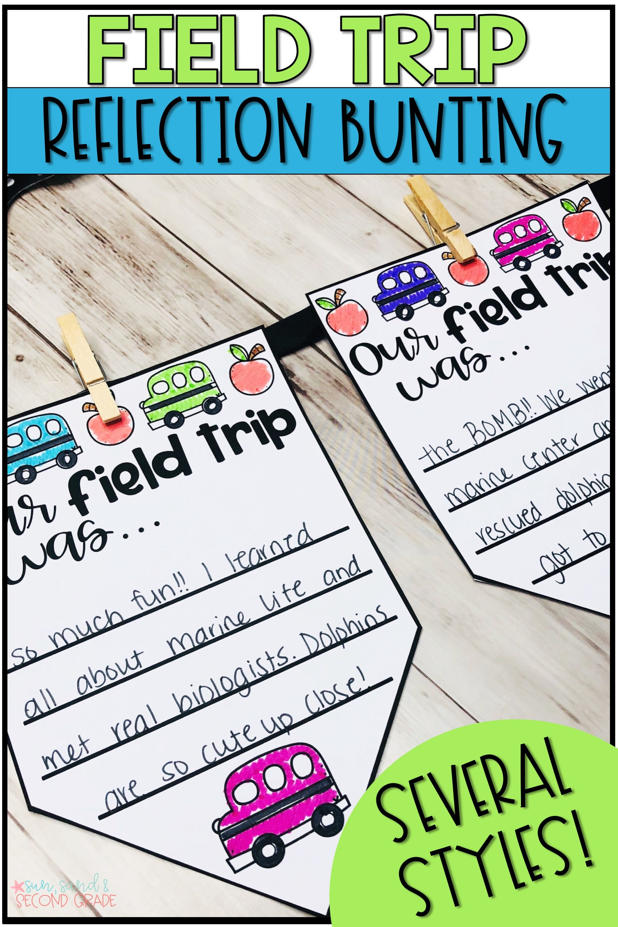 Field Trip Reflection Bunting Banner With Images