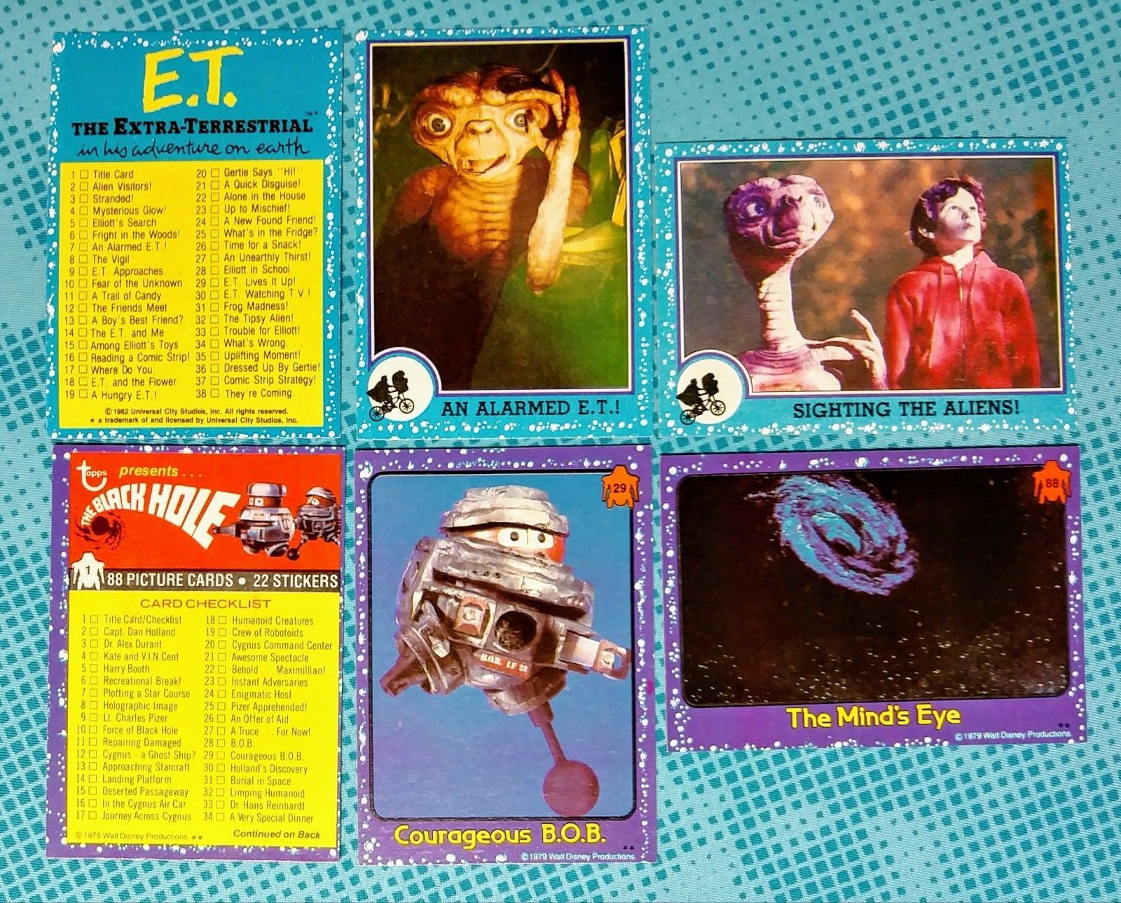 6 1979 1982 Topps The Black Hole E T Movie Trading Cards Nice Trading Cards Black Hole Cards