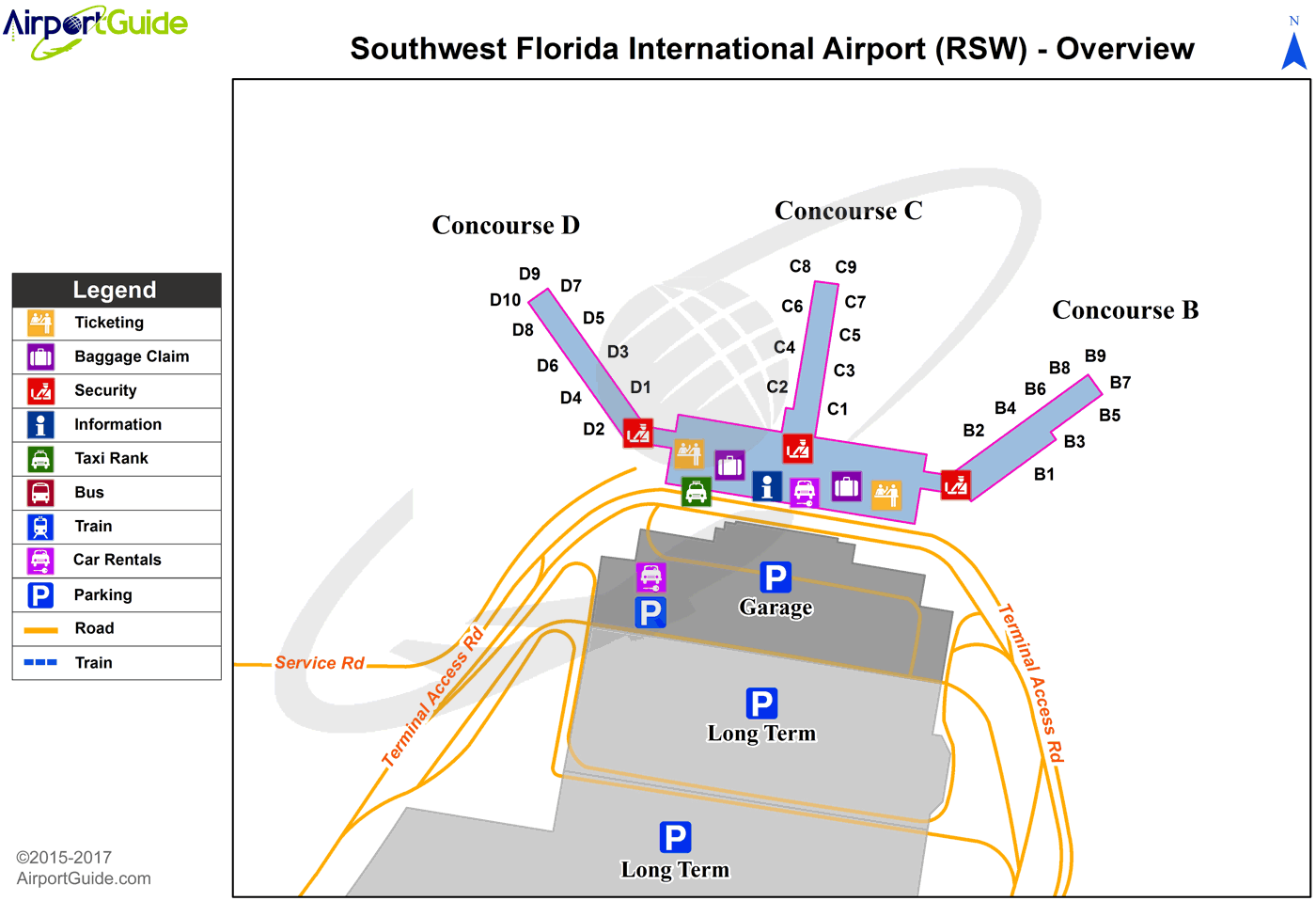 ft myers airport map Fort Myers Southwest Florida International Rsw Airport ft myers airport map