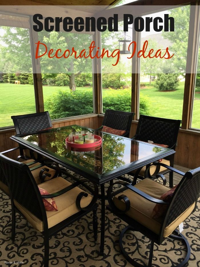 May 25 Screened Porch Decorating Ideas | Screened porches, Porch ...