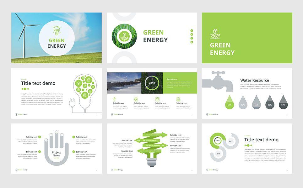 Green energy keynote template 65736 templatemonster