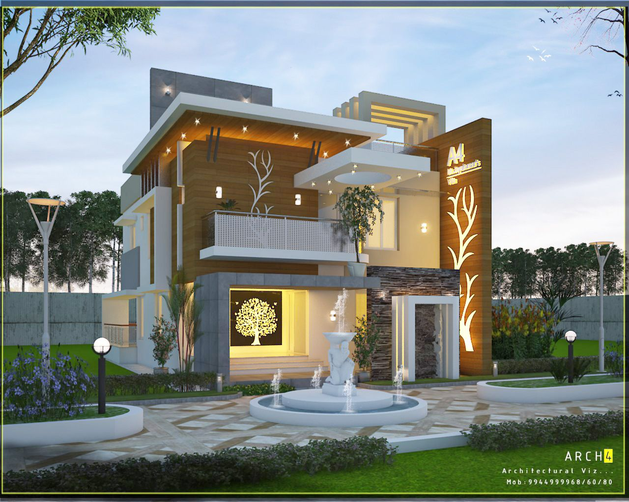 Residential Construction In Coimbatore Residential In Coimbatore Contemporary House House Elevation Modern House Design