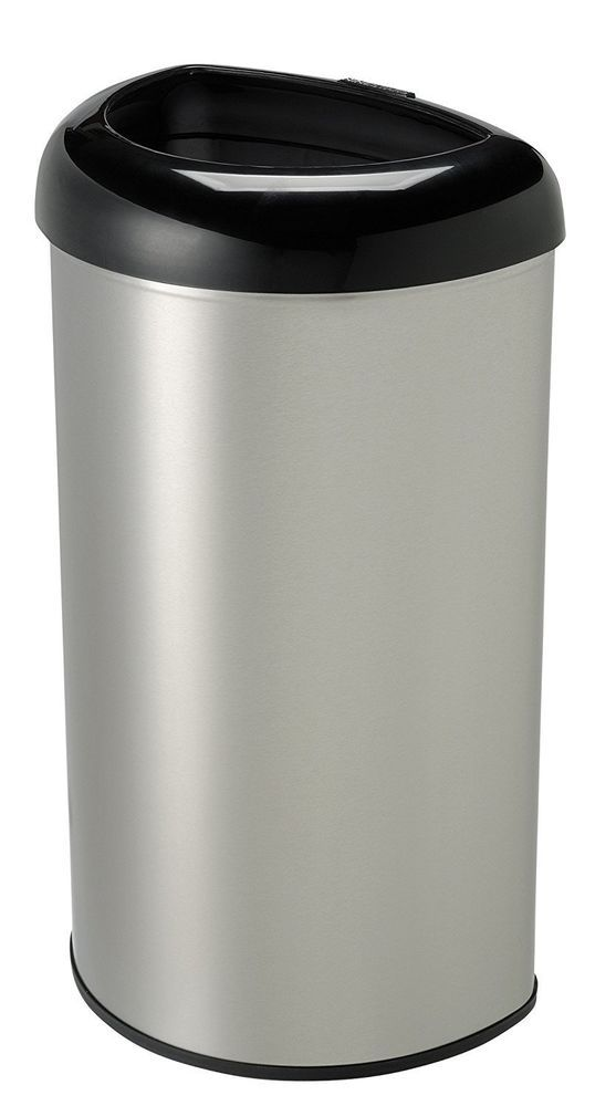 13 Gallon Kitchen Trash Can Soup Volunteer Northern Va Stainless Steel Open Top Home Office Garbage Bin Ninestars