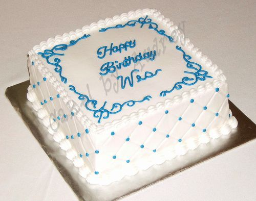 Birthday Square Cake With Images Square Cakes Cake Square