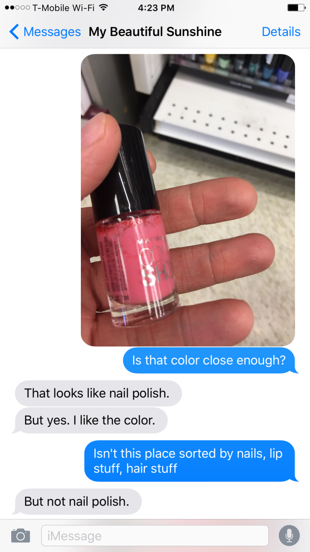 This Guy Tried To Buy Makeup For His Girlfriend Failed Miserably Makeup To Buy Makeup Tumblr Funny Texts