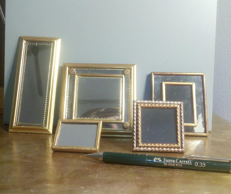 Espejos de cristal enmarcados en madera dorada | Espejo, Cristales y ...