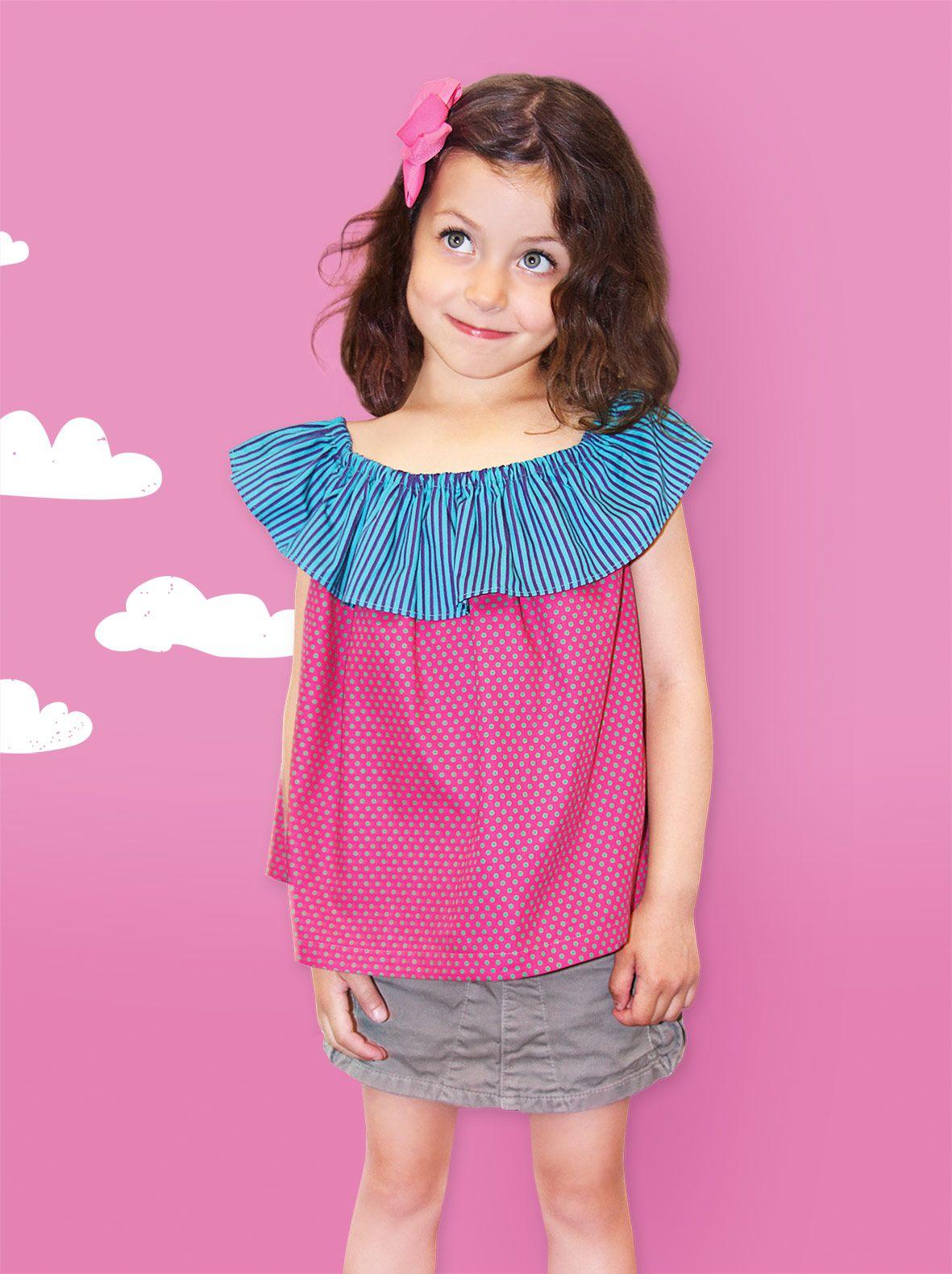Schnittmuster Carmenbluse Kids › Fashionmakery | Kind | Pinterest ...