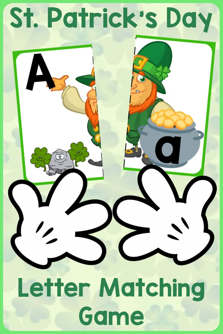 Match Uppercase to Lowercase Letters | St. Patrick\'s Day Leprechauns ...