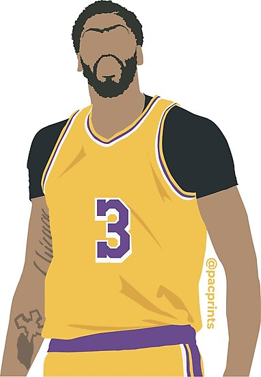 Anthony Davis Ad Lakers Minimalist Art Phone Case Shirts Stickers And More Photographic Print By Pacprints In 2020 Anthony Davis La Lakers Poster Lakers