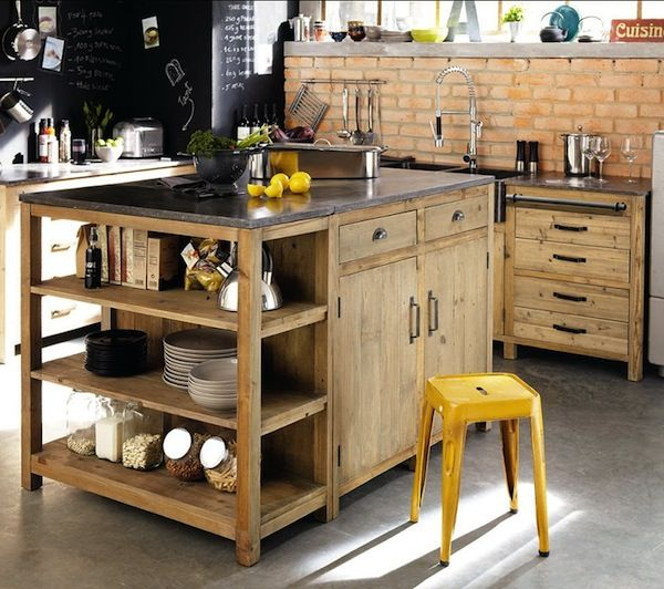 Get Inspired Vintage Kitchen Design With Industrial Touches