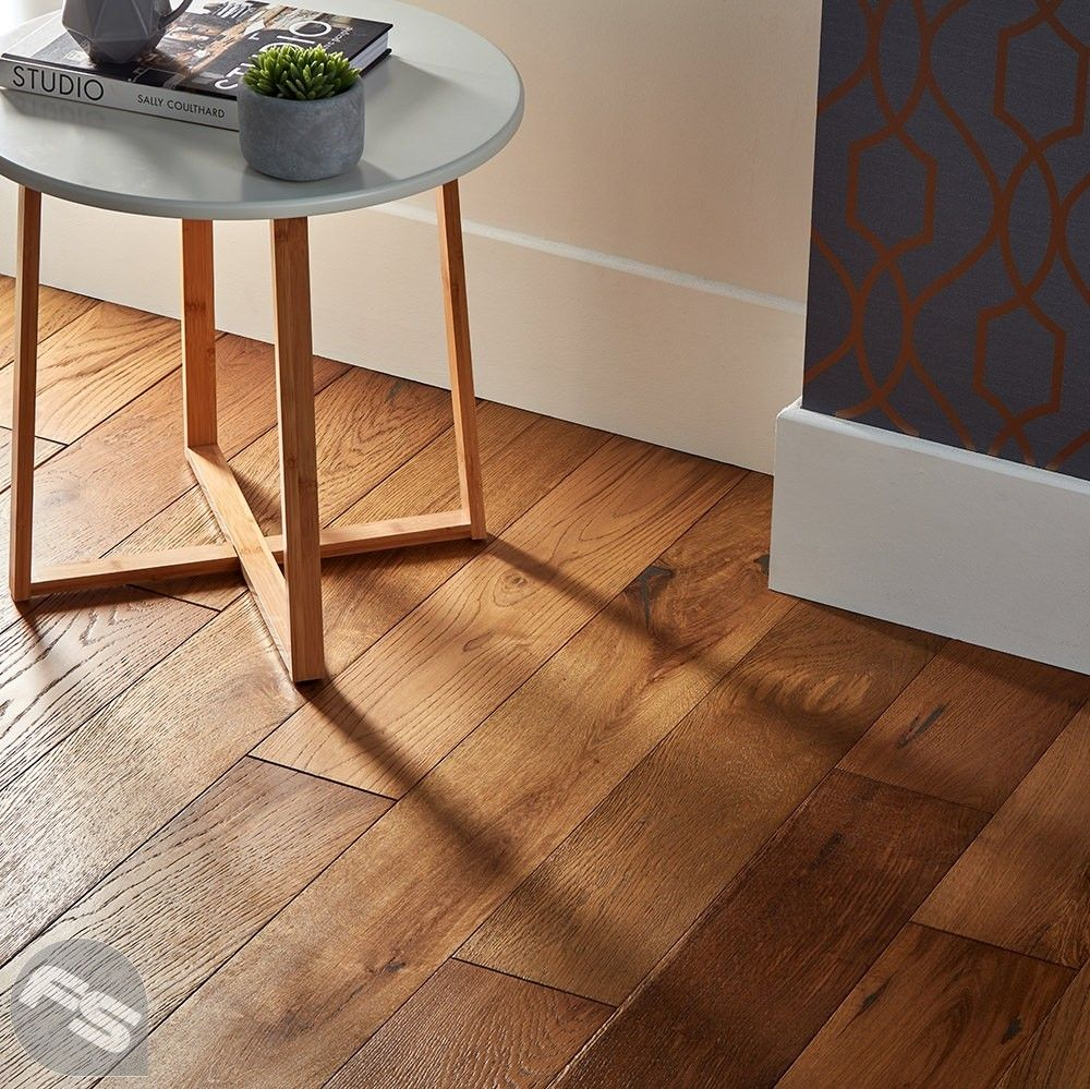 Loft Golden Smoked Oak Brushed Lacquered Engineered Wood Flooring With Images Living Room Wood Floor