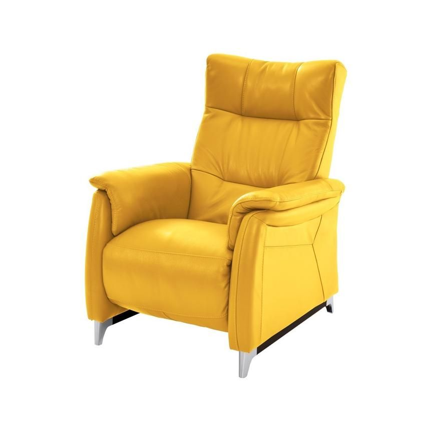 Andrea Yellow Power Motion Leather Recliner Leather Recliner Recliner Leather Furniture