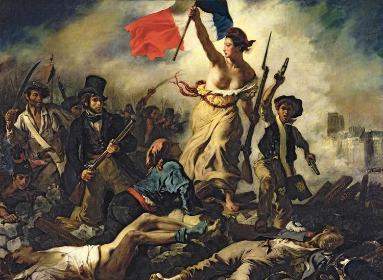 Liberty Leading The People 4000pc Jigsaw Puzzle By Tomax Delacroix Paintings Liberty Leading The People Eugene Delacroix