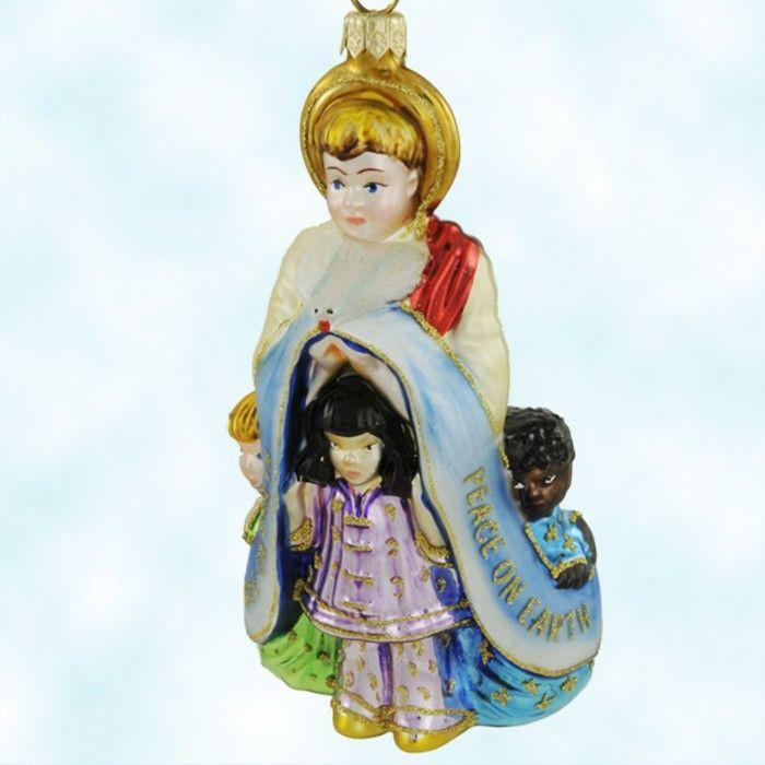Polonaise Divine Love, - Angel with Children & Dove  Ornaments, 2001, AP1250 - spreads world peace