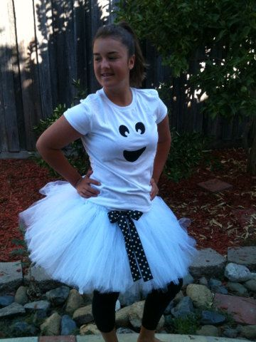 826359d87e Items similar to Teen/Adult Ghost Halloween Tutu Costume Set on Etsy  Halloween Tutu Costumes