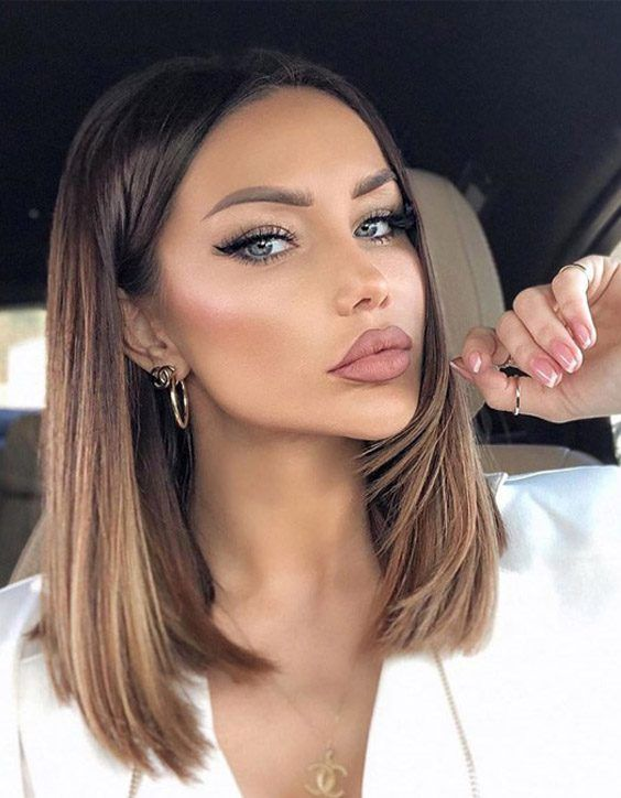 Ideal & Modern Brown Highlights for Shoulder Length Hair