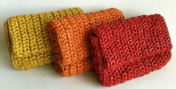 Crochet with lether