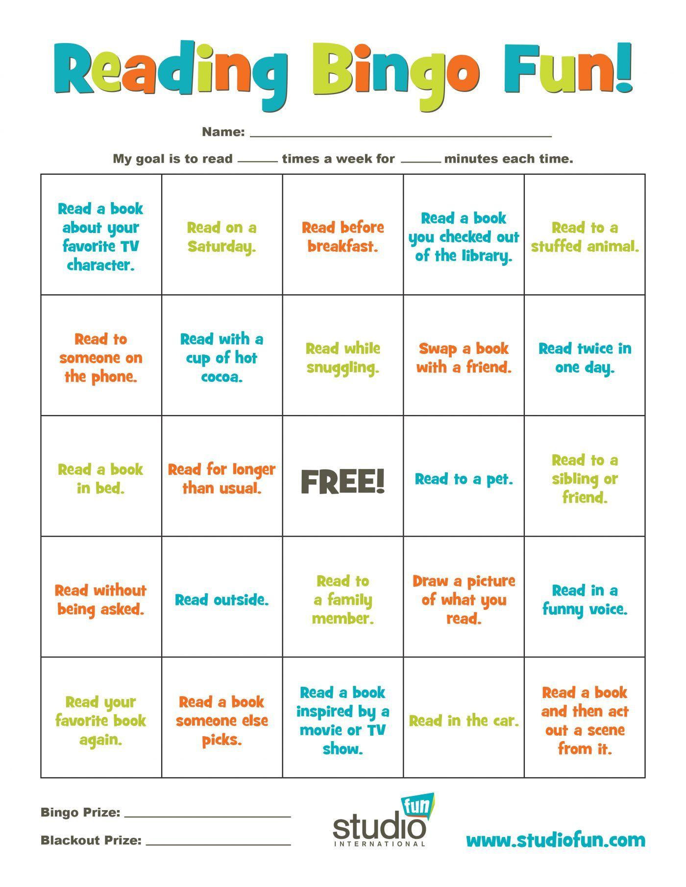 Reading Bingo In