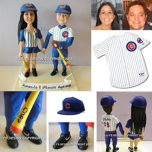 Wedding Gifts Chicago: Cubs Baseball Team Cake Toppers, Unique Chicago Cubs Gifts