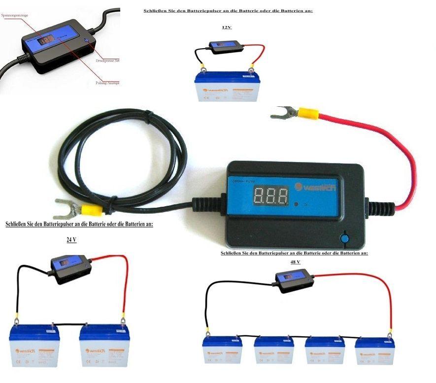 westech batteriepulser desulphator f r 12 48 volt. Black Bedroom Furniture Sets. Home Design Ideas