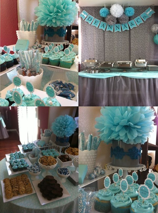 shower baby shower table blue baby showers baby shower tiffany theme