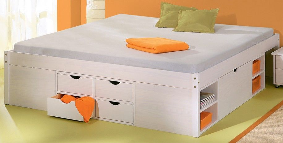 Wonderful Kids Beds with Solid Pine Bed Frame Under Bed Storage Kids Beds With Storage and others  Harper White Continental Double Storage . & Image from http://sifu.barbarawatkins.net/wp-content/uploads/2016/01 ...