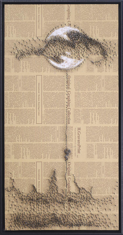石古工作室 软装设计实物艺术画 怀旧色调立体造型装饰画 特色壁挂