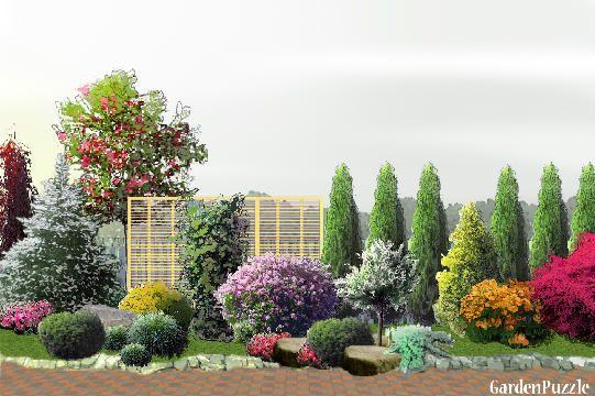 Znalezione Obrazy Dla Zapytania Krzewy Wzdluz Ogrodzenia Plants Garden Concept