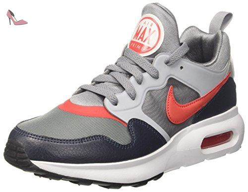 Nike Air Max Prime, les Formateurs Homme, Multicolore (Cool Grey/Track Red